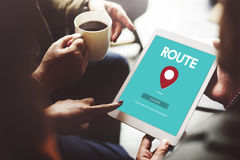 Route Map Navigation Track Places Concept Stock Photography