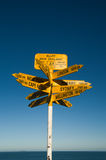 Route marking Stirling Point Royalty Free Stock Image