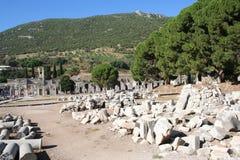 Route menant au stade d'Ephesus Photo stock