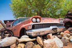 Route 66 Mercury Car Imágenes de archivo libres de regalías