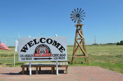 Route 66 Midpoint Royalty Free Stock Photo
