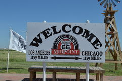 Route 66 Midpoint Stock Photography