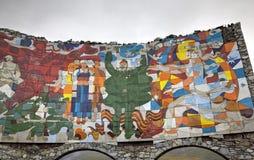 ROUTE MILITAIRE GÉORGIENNE, la GÉORGIE - 13 septembre 2015 : Monument géorgien russe de voûte d'amitié Images libres de droits