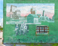 Route 66: Mining Mural, Quapaw, MO Stock Photography