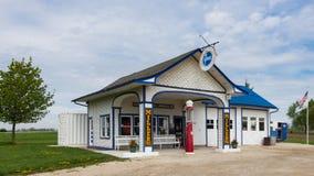 Route 66: Mjölnares normalolja, Odell, IL Arkivfoto