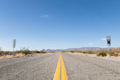 Route 66 moderväg, Kalifornien, Arizona, USA Royaltyfri Bild