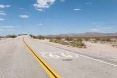 Route 66 moderväg, Kalifornien, Arizona, USA Royaltyfri Foto