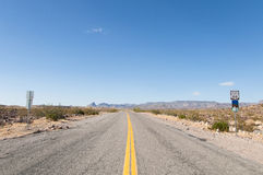 Route 66 moderväg, Kalifornien, Arizona, USA Royaltyfria Bilder