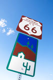 Route 66 moderväg, Kalifornien, Arizona, USA Royaltyfria Foton