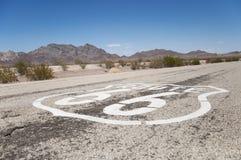 Route 66 moderväg, Kalifornien, Arizona, USA Arkivfoto