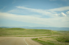 Route 90 in Montana. Route 90 winds its way through Native American Reservations in Montana Royalty Free Stock Photos