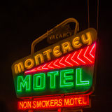 Route 66: Monterey Motel, Albuquerque, NM Royalty Free Stock Photos