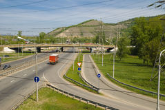 Route from Moscow to Chelyabinsk in the Zhiguli Mountains Stock Image