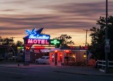 Route 66 -Motel royalty-vrije stock afbeeldingen