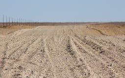 Route moulue par le désert photographie stock libre de droits