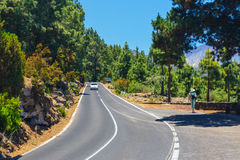 Route in the mountains in Tenerife Royalty Free Stock Photo