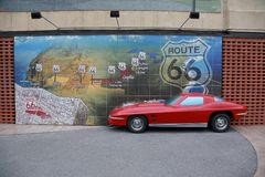 Route 66 mural, Joplin, MO Stock Photos