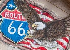 Route 66 -muurschildering Royalty-vrije Stock Foto's