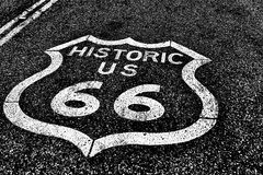 Route 66 of national highway historic road Royalty Free Stock Photography