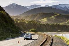 Route nationale de Kaikoura, NZ image stock