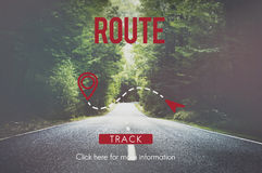 Route Navigate Location Planning Transportation Concept Stock Images