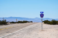 Route 66, near Chambless, California Royalty Free Stock Images
