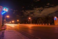 Route 66 neon sign, Albuquerque, New Mexico, USA. Stock Photography