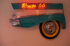 Route 66 neon sign Royalty Free Stock Photos
