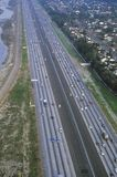 The Route 91-New Smart Highway, Toll Road in Orange County, California Royalty Free Stock Photo
