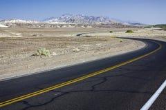 Route noire photo stock