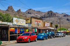 Route 66 in Oatman stock photos