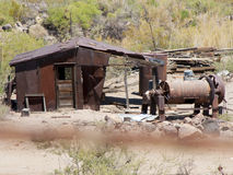 Route 66 Oatman Gold Mines. Photo from Highway Route 66 driving through the desert, forest in Oatman, a gold mine town Stock Photography