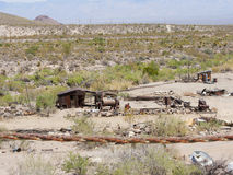 Route 66 Oatman Gold Mines. Photo from Highway Route 66 driving through the desert, forest in Oatman, a gold mine town Royalty Free Stock Image
