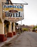 Route 66: Oatman hotell, Oatman, AZ royaltyfri foto