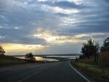 Route Odessa-Nikolaev Images stock