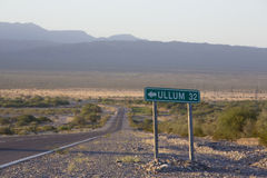 Route 40 old sign road to Ullum in north of Argentina Stock Image