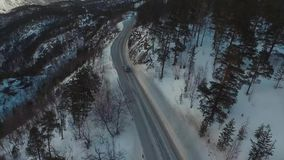 Route op de Lofaten-Eilanden stock footage