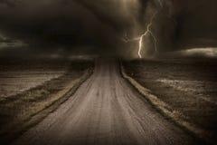 Route orageuse photos libres de droits