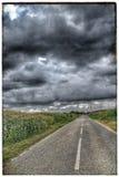 Route orageuse Photographie stock libre de droits