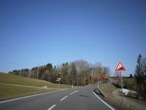 Route ouverte de rue d'Allemand image libre de droits