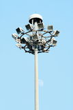 Route Pôle léger de rue de lampadaire de poteau de lampe Photos libres de droits