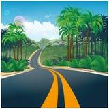 Route par la jungle Photo libre de droits