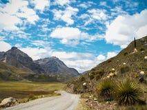 Route par la vallée de montagne Photographie stock libre de droits