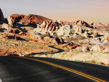 Route par le désert Image stock