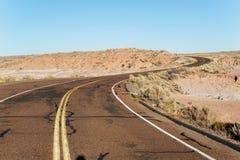 Route par les bad-lands Image libre de droits