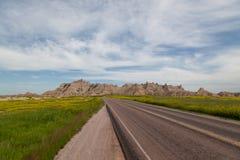 Route par les bad-lands Photos libres de droits