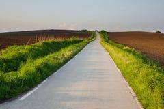 Route par les champs Photographie stock