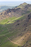 Route par les montagnes Images libres de droits