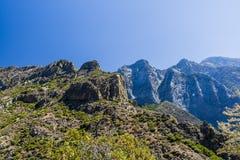 Route 180, parc national des Rois Canyon, la Californie, Etats-Unis Photos stock