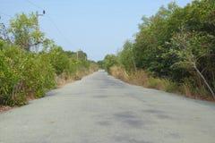 Route pavée par pays vide Images libres de droits
